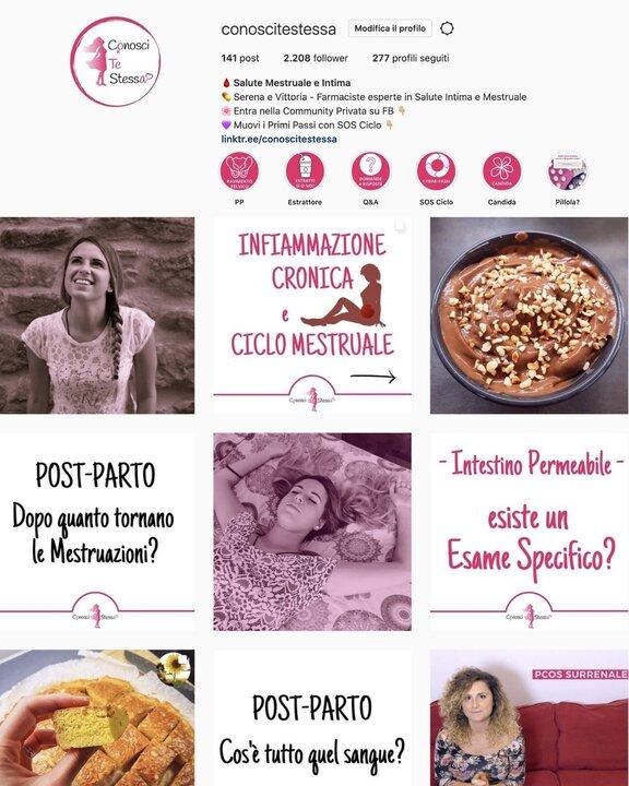 conosci te stessa e il tuo ciclo mestruale nella nostra pagina facebook